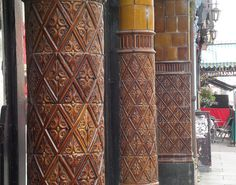 Cork city tile pillars 2 by Woodlanda, via Flickr