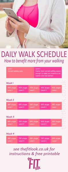 Get organised with this walking plan for health, weight loss and fitness benefits. A 4 week 20 minute daily walk plan with printable schedule.
