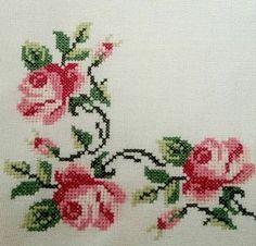 The most beautiful cross-stitch pattern - Knitting, Crochet Love Cross Stitch Letters, Cross Stitch Heart, Cross Stitch Borders, Cross Stitch Samplers, Cross Stitch Flowers, Cross Stitch Designs, Cross Stitching, Cross Stitch Embroidery, Stitch Patterns