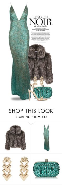 """""""Formally Yours for Fall 4810"""" by boxthoughts ❤ liked on Polyvore featuring Marc Jacobs, Gina Bacconi, Versace and Gianvito Rossi"""