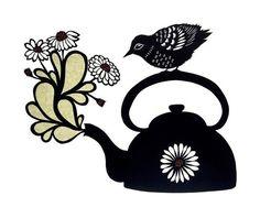 Tea Is Ready  Cut Paper Art Print by ruralpearl on Etsy, $20.00