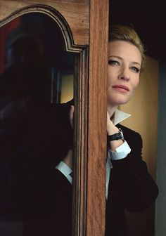 Cate Blanchett is seen while filming for the International Watch Company (IWC) on May 18, 2014 in Portofino, Italy.