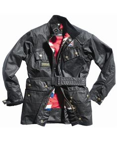 Boys Barbour Union Jack International Waxed Jacket