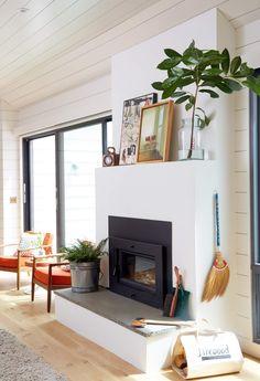 A perfect, minimal, and modern fireplace