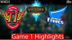 SKT vs Afreeca Game 1 Highlights W4D3
