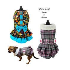 Dog Dress Sewing Pattern PDF Dog Clothes Tutorial Paris