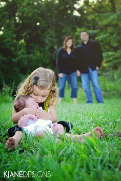 Family Sibling Newborn Photography  Photo by KJane Designs - www.kjanedesigns.com