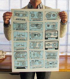 Love this cassette tape art