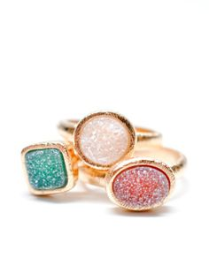 Geo Drusy Ring in Aquatic | LEIF inspiration, kinda looks like sugar candy