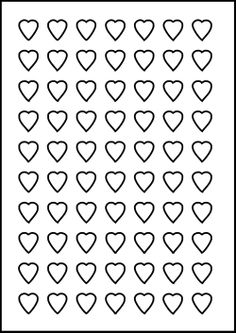 8 x 10 heart template