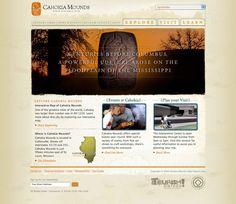 Website for Cahokia Mounds, by TOKY Branding + Design (toky.com)