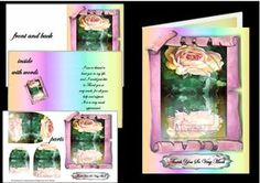 Old Rose Thank You on Craftsuprint - View Now!