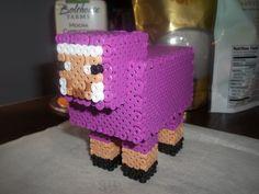 Minecraft Purple Sheep Perler beads by Libbyseay on deviantART Minecraft Box, Minecraft Sheep, Minecraft Perler, Minecraft Pixel Art, Minecraft Crafts, Minecraft Stuff, Minecraft Essentials, Diy Perler Beads, Cat Birthday