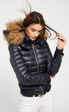 Vancouver Down Bomber (Ink Navy) Puffer Jackets, Winter Jackets, Down Suit, Types Of Coats, Down Puffer Coat, Teen Girl Outfits, Winter Warmers, White Hoodie, Jacket Style