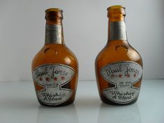 Paul Jones Four Star Whiskey Amber Bottles Lot Of 2 by Replays, $18.00