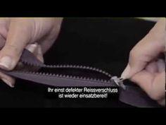 Reißverschluss reparieren innerhalb von wenigen Sekunden! - YouTube