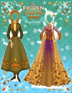 Figuras imprimibles de Elsa y Anna Frozen
