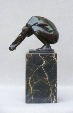 Bronze Sculpture Male Nude on Marble Base Erotic Art Man Torso Body Figure Gay Interest Men figurine statue door GalleryGreenGold op Etsy