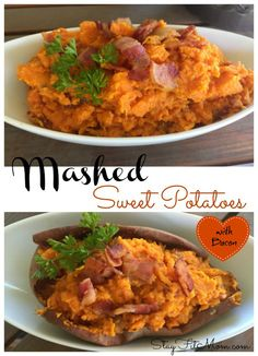 This combination of sweet potatoes and salty bacon is to die for! Top Recipes, Clean Recipes, Potato Recipes, Veggie Recipes, Real Food Recipes, Healthy Recipes, Delicious Recipes, Fast Recipes, Healthy Drinks