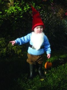 Taylor - Garden Gnome Baby Costume - I've got a gnome! I've got a gnome! Baby Halloween Costumes For Boys, Halloween Items, Cute Costumes, Baby Costumes, Holidays Halloween, Halloween Party, Toddler Halloween, Halloween Outfits, Costume Halloween