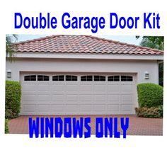 Carriage House Style Faux Windows Garage Door Vinyl Decals - No Faux Hardware Double Garage Door, Faux Window, Garage Doors, House Styles, Garage Windows, Garage, Garage Door Types, Single Garage Door, Doors