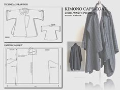Zero-Waste, Kimono Cape-Coat, was introduced to students as a part of students learning experience in the field of sustainable design, namely Zero-Waste approach.