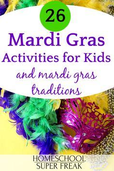 26 Mardi Gras Activities for Kids + FREE Mardi Gras Printable! Mardi Gras Attire, Mardi Gras Costumes, Mardi Gras Activities, Activities For Teens, Eyfs Activities, Mardi Gras Facts, What Is Mardi Gras, Mardi Gras Float, Madi Gras