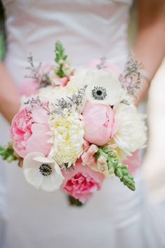 Bridesmaids? White peonies and soft pinks can add that romantic touch to your bouquet