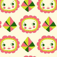 print & pattern Type Illustration, Pattern Illustration, Cute Pattern, Pattern Design, Fabric Patterns, Color Patterns, Happy Art, Japanese Fabric, Japanese Design