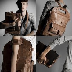 2UNFOLD Multi-use Leather Laptop Bag   €349.00