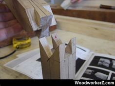 Japanese splicing wood joint. More Woodworking Projects on www.woodworkerz.com