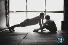 gym, crossfit engagement photos Durham NC engagement photos by Michelle Gunton