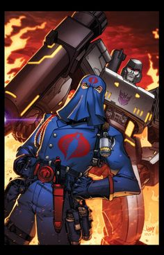 Cobra Commander & Megatron - Jonboy Meyers What saddens me is that the series will never live up to this.