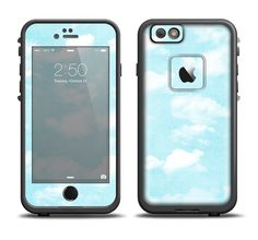 The Vintage Cloudy Skies Apple iPhone 6/6s Plus LifeProof Fre Case Skin Set from DesignSkinz