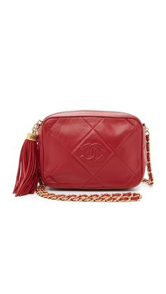 609f78a29e30 What Goes Around Comes Around Chanel Cc Camera Bag (Previously Owned) - Red