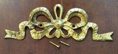 NOS Vintage Brass Ornate Ribbon Design Wall Decor Frame Door Picture Art Topper