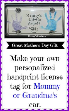 Personalized handprint gift