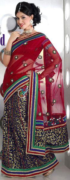 US$ 132.01 Blue Brasso Saree Blouse Net Saree Designs, Saree Blouse Designs, Bollywood Designer Sarees, Indian Designer Sarees, Satin Saree, Silk Sarees, Bridal Sari, Bollywood Party, Printed Sarees