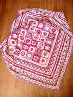 Blanket is one from Drops Design 2016 crochet along. http://www.garnstudio.com/lessons.php?catid=6&cid=19