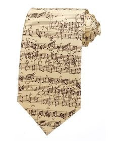 BACH BY BACH TIE | Classical Music Tie, Sheet Music | UncommonGoods $45
