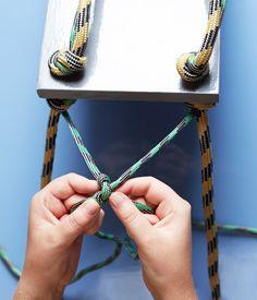 Como hacer estantes caseros con cuerdas