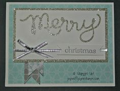 SUPPLIES: Stamps:  Sweet Essentials or Greetings of the Season Card Stock:  Shimmery White; Silver Glimmer Paper or Red Glimmer Paper Paper:...