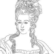 marie antoinette queen of france coloring page coloring page famous people coloring pages