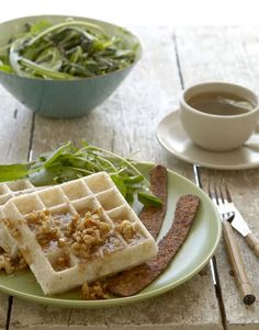 Mochi Waffles! so good and insanely easy to make- the lemon-walnut-rice syrup is delicious :)