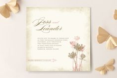 "CHRISTOPJER FAV ""Rustic Queen Anne"" - Floral & Botanical, Rustic Wedding Invitations in Vintage Rose by Brynn Rose Designs."
