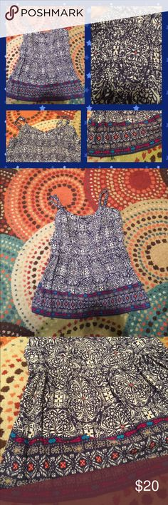 Torrid Boho Babydoll Cami Colorful and fun boho print. Adjustable spaghetti straps and elastic back for a better fit. Fun, flirty, and on trend. Size 1x. Torrid Tops