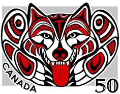 The other inspiration for my wolf tatoo-Haida Malamute Stamp : SheezyArt