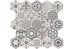 Hexagon Harmony 17.5x20cm - Tons of Tiles