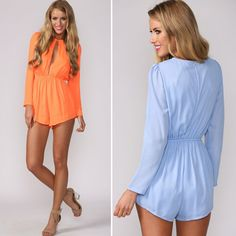 Find More Jumpsuits & Rompers Information about 2015 New hollow out Chiffon Jumpsuit Women Summer Holiday Beach Rompers long sleeve Sexy overall Jumpsuit Shorts Playsuit ,High Quality shorts jumpsuits for women,China shorts beach Suppliers, Cheap shorts retro from Julybaby' s  clothing store  on Aliexpress.com