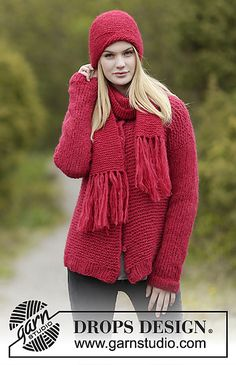 Ravelry: 0-1190 Merry and Bright Set: Jacket pattern by DROPS design
